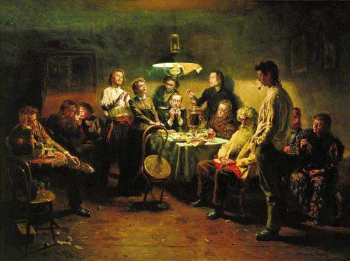 Vladimir Egorovich Makovsky. A party. 1875-1897