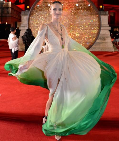 Natalia Polevshchikova in Dundas dress
