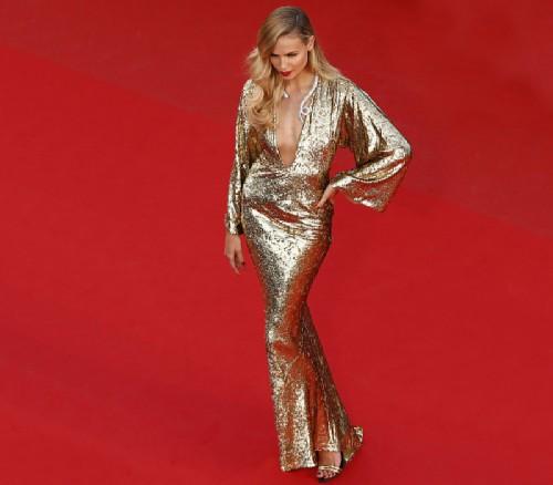 Natasha Poly in Michael Kors dress