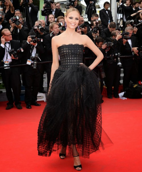 Natasha Poly in Oscar de la Renta dress