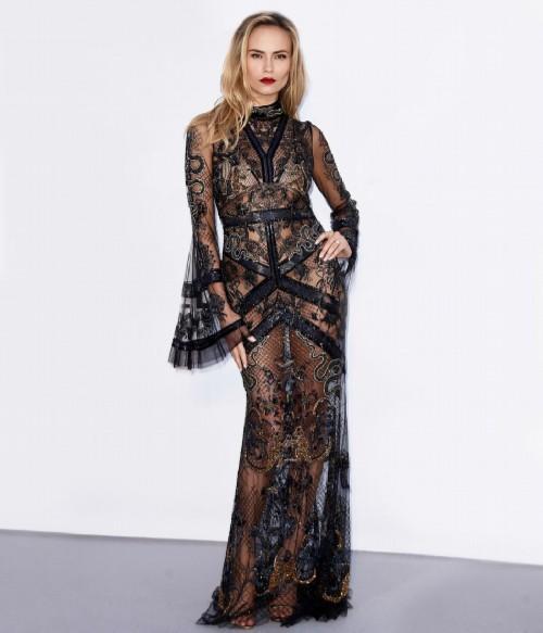 Natasha Poly in Roberto Cavalli dress