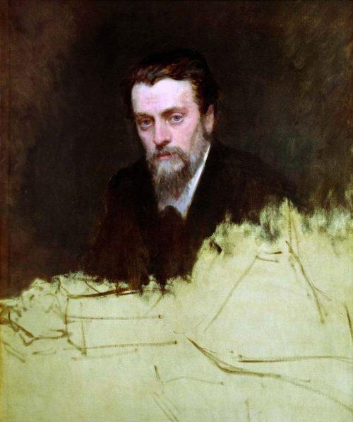 Vladimir Egorovich Makovsky. Kramskoy Ivan Nikolaevich. Portrait of Makovsky Vladimir Egorovich. 1887