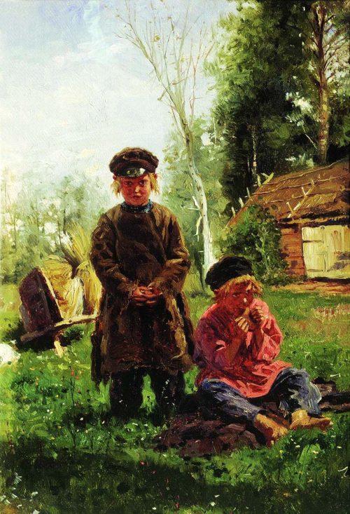 Peasant boys. 1880