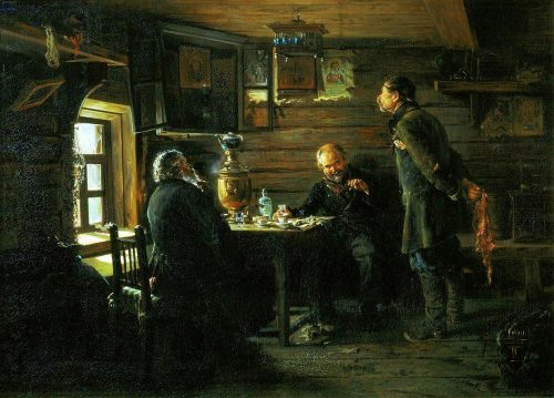Lovers of nightingale singing. 1872-1873