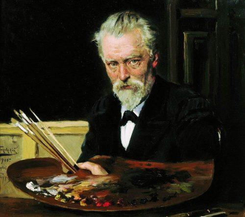 Makovsky Vladimir Egorovich. Self-portrait. 1905