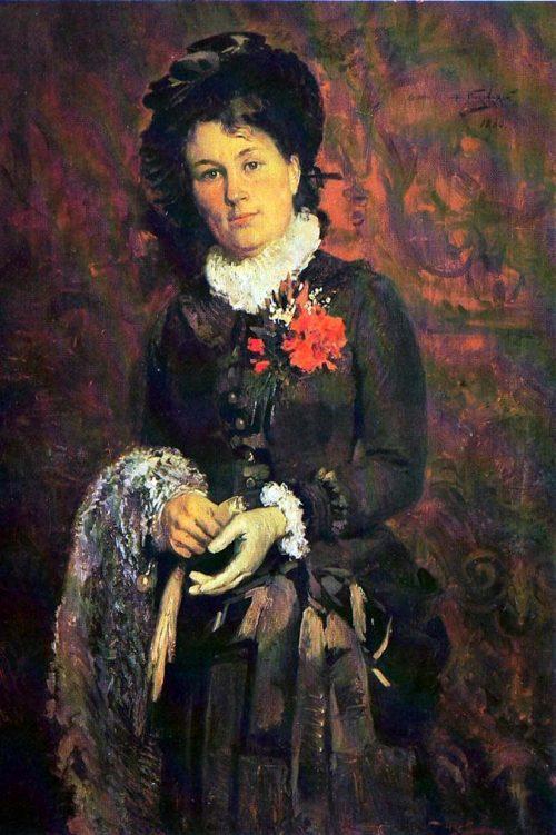 Makovsky Vladimir Egorovich. Portrait of Anna Petrovna Gerasimova. 1880