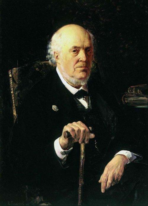 Makovsky Vladimir Egorovich. Portrait of Yegor Ivanovich Makovsky. 1880