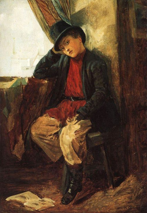 Makovsky Konstantin Egorovich. Portrait of Vladimir Egorovich Makovsky as a child. 1854