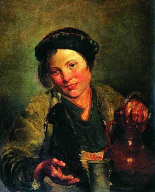 A boy selling kvass. 1861