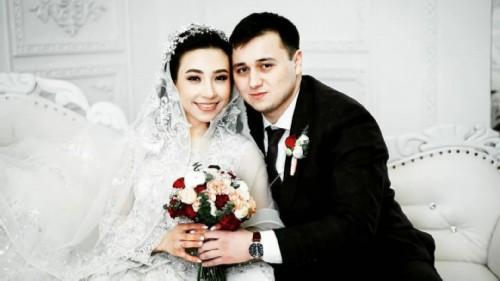 Manizha on the wedding day