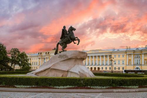 St Petersburg sights. Bronze Horseman
