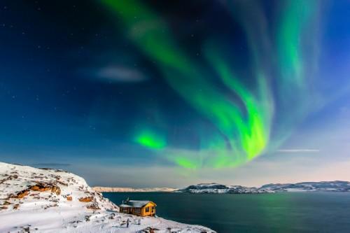 Murmansk, Teriberka. Northern Lights