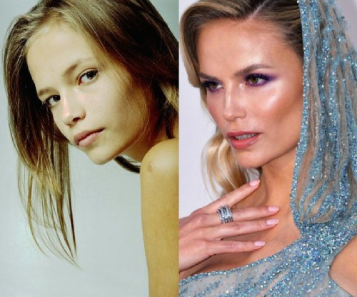 Natasha Poly before and after becoming a model