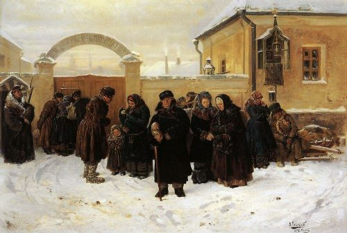 Expectation. At the prison. 1875