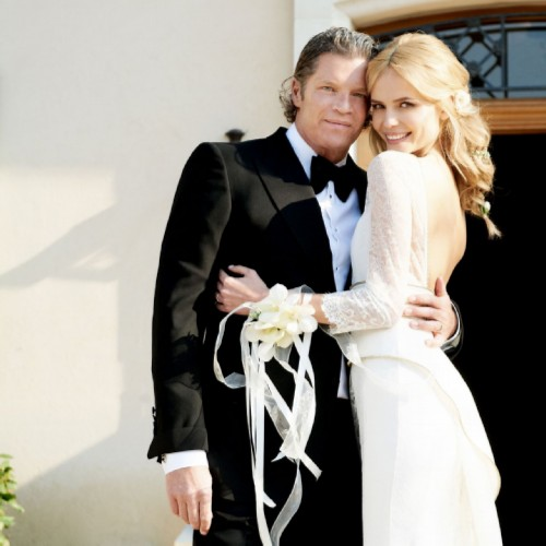Peter Bakker and Natasha Poly on their wedding day (2011)