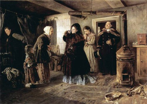 Visiting the poor. 1874