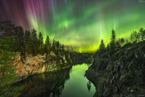 Northern lights in Karelia