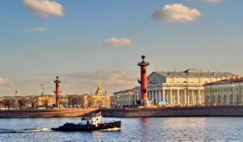 St Petersburg sights. Spit of Vasilyevsky Island