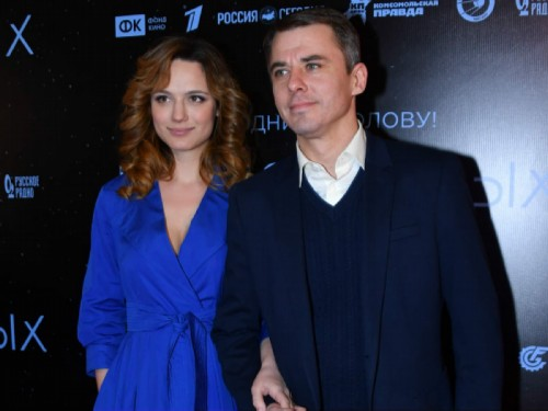 With ex-wife Ekaterina Klimova