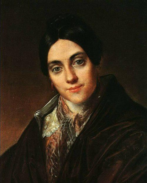 Tropinin Vasily Andreevich. Portrait of Lyubov Kornilovna Makovskaya. 1830th.