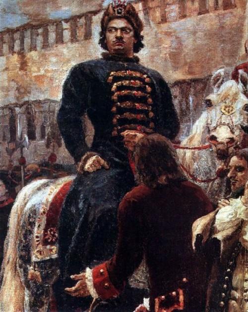 Tsar Peter on horseback