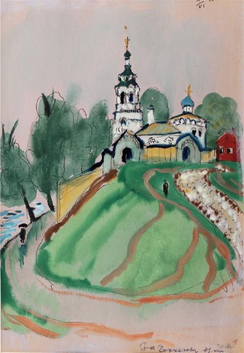 Tatyana Mavrina. Church of Elijah the Prophet in Cherkizovo