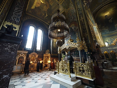 Part of the modern interior of the cathedral.