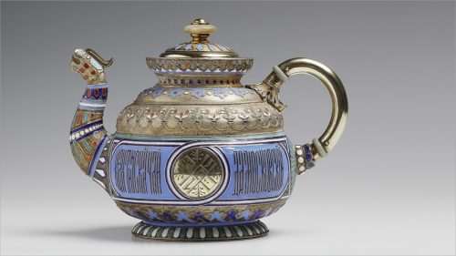 Khlebnikov Jewelry Company. Teapot in the shape of a dragon, 1888. Museum