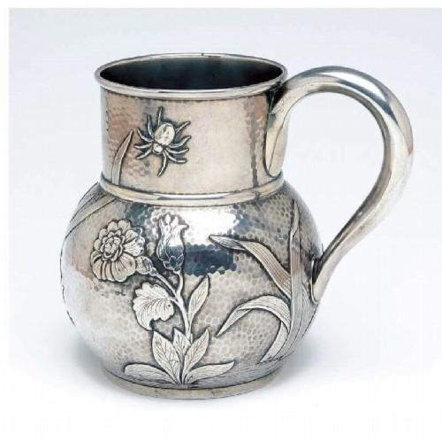 Silver jug in
