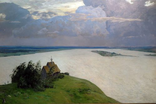 Above Eternal Peace - painting by Isaac Ilyich Levitan