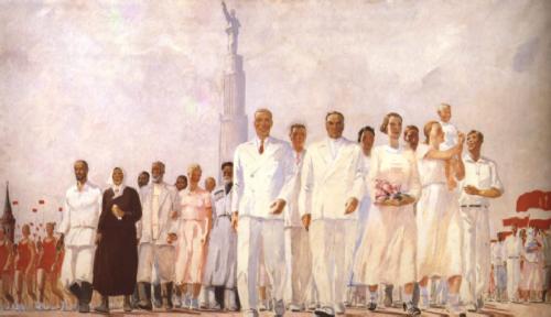 Socialist Realism. Alexander Deineka. Stakhanovites, 1937. Perm State Art Gallery, Perm