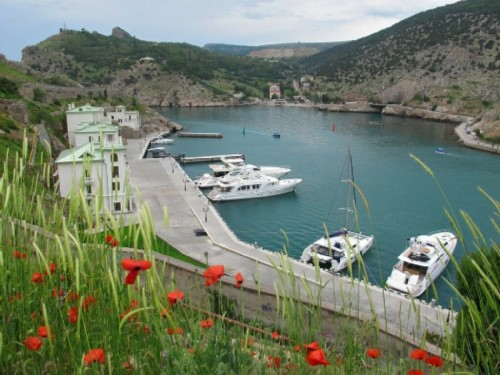 Another beautiful view of Balaklava Bay - boats, sea