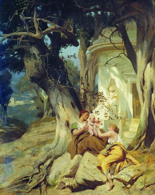 At the temple (Idyll). 1881