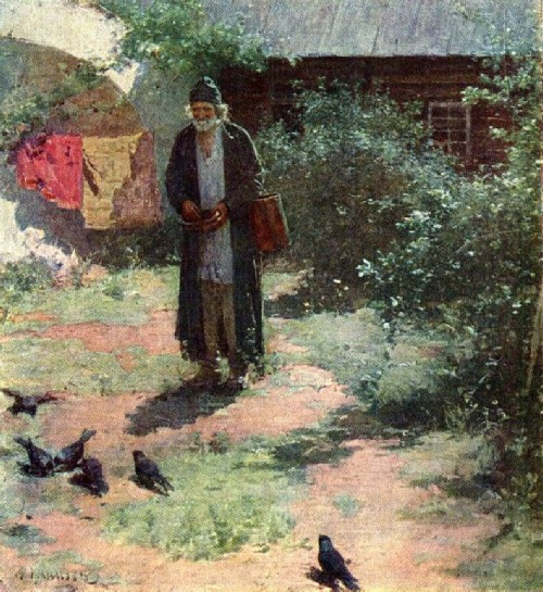Cell attendant. 1891 Oil on canvas. State Tretyakov Gallery, Moscow, Russia