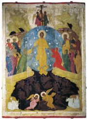Descent into Hell. 1408-1410. Andrey Rublev.