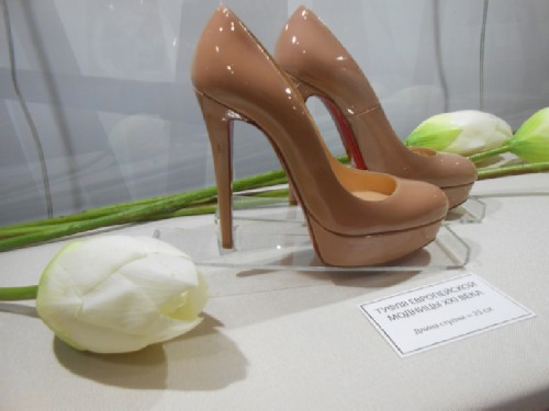 European fashionista's shoe
