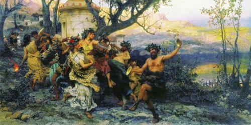 Feast of Bacchus. 1890