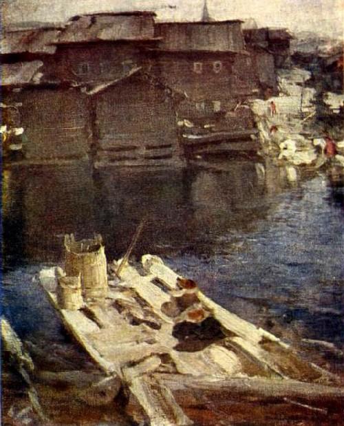 Abram Arkhipov. Gangway. Canvas, oil. Museum-apartment of I.I. Brodsky.