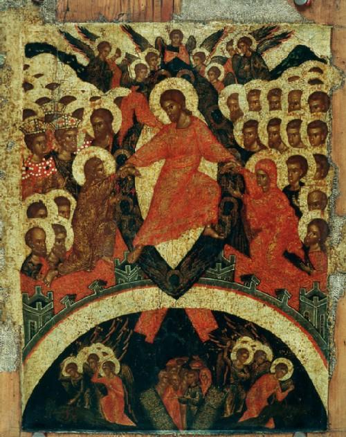 Icon Descent into Hell. XVI century