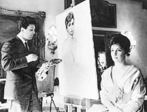 Ilya Glazunov paints a portrait of Gina Lollobrigida in Rome.