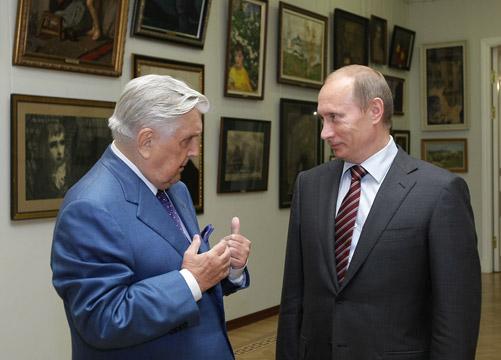 Ilya Glazunov with Vladimir Putin