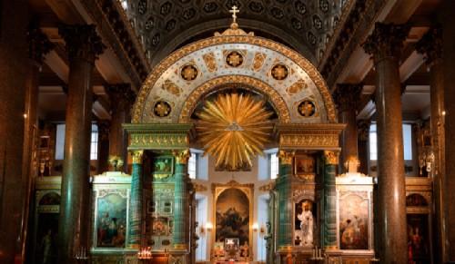 Kazan Cathedral in St. Petersburg iconostasis