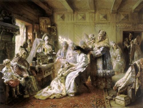 Konstantin Makovsky. Down the aisle. 1890 - Serpukhov History and Art Museum