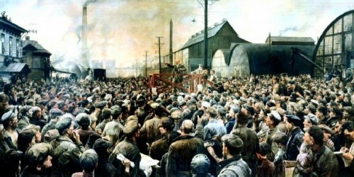 Lenin's speech at a rally in May 1917, 1929