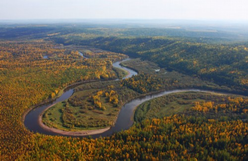 Lower Tunguska River: Harsh and real Gloom-river