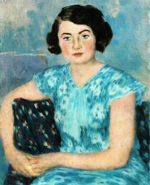 Vladimir Lebedev. M.P. Rith in Blue 1935