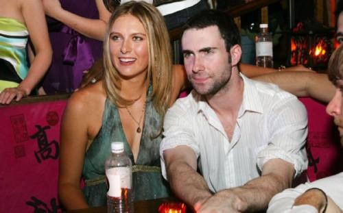 Maria Sharapova and Adam Levine. Russian wives of western celebrities