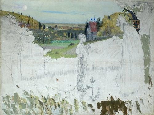 Mikhail Nesterov. Unfinished version of the painting Vision to the youth Bartholomew, 1889