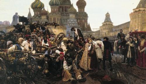 Morning of the Strelets by Vasily Surikov