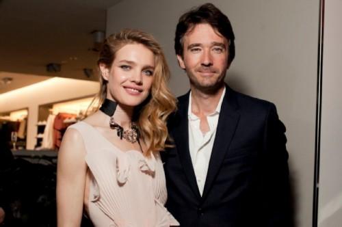 Natalia Vodianova with her husband Antoine Arnault